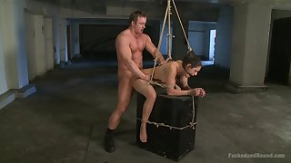 Deprecatory BDSM torture chapter with rough fucking for Charley Chase