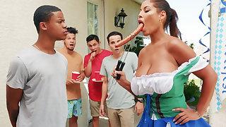 Hardest Oktoberfest group intercourse for drunk wife