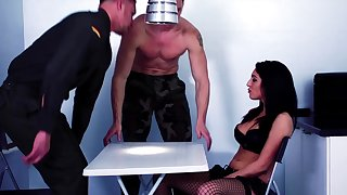 Perfect brunette fucked up hammer away selfish holes at the end of one's tether two army men
