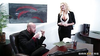 Wild sex on the meeting table with delicious enchase Jessica Nyx