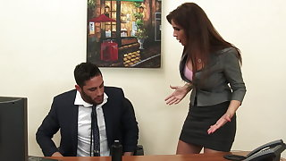 Titillating milf boss Syren De Mer exploits employee for dick hd