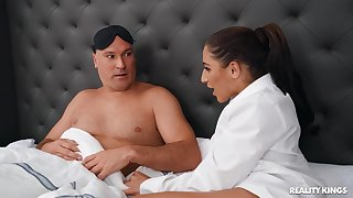 Appealing chick wants stepdad's endless learn of for a little morning fun