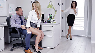 Manager have three-way intercourse with keep from